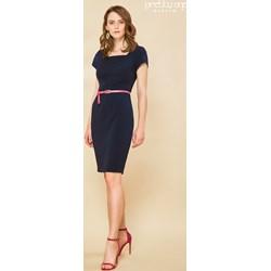4f0bea50d00574 Sukienka niebieska Prettyone z krótkim rękawem na wiosnę midi