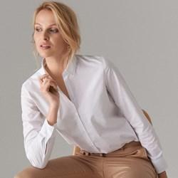 3d600087d82bc6 Mohito koszula damska bawełniana biała klasyczna z długim rękawem