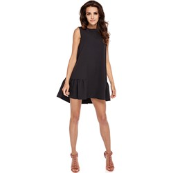 c377eb58 Elastyczna czarna sukienka z rozcieciem modne-duze-rozmiary czarny ...