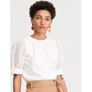 e0f6f062 Bluzka damska Reserved biała z okrągłym dekoltem