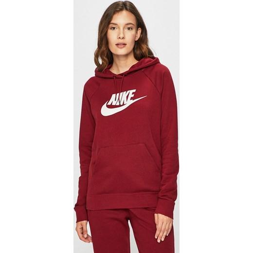 7bb65c833d19af Bluza damska czerwona Nike Sportswear dzianinowa w Domodi
