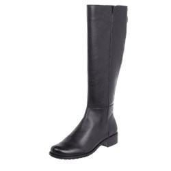 38d7021c Gerry Weber Shoes kozaki damskie skórzane czarne płaskie z zamkiem casual