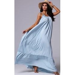 d9426bd14dd7b2 Sukienka Fashionyou z poliestru niebieska maxi oversize