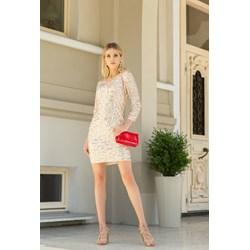 c43d60666 Sukienka Monnari z długimi rękawami na sylwestra z dekoltem w serek