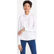 be2f4060 Reserved bluzka damska z długimi rękawami z okrągłym dekoltem biała bez  wzorów