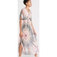 92ccd978f06215 Sukienka wielokolorowa Reserved prosta na spacer maxi casualowa