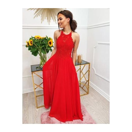 1d114580 Sukienka glamour maxi gorsetowa bez rękawów na karnawał