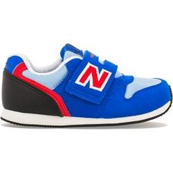 711a396aa43897 Buty sportowe dziecięce New Balance na rzepy niebieskie gładkie