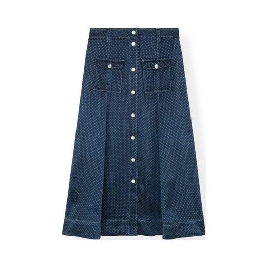 85% ZNIŻKI Spódnica Ganni z wiskozy Odzież Damska NI niebieski Spódnice GOUE