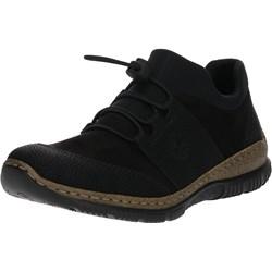 a998f4b5 Buty sportowe damskie Rieker w stylu młodzieżowym czarne skórzane na zamek  płaskie