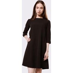 84f401ae554d50 Sukienka Born2be wyszczuplająca mini z długim rękawem bez wzorów