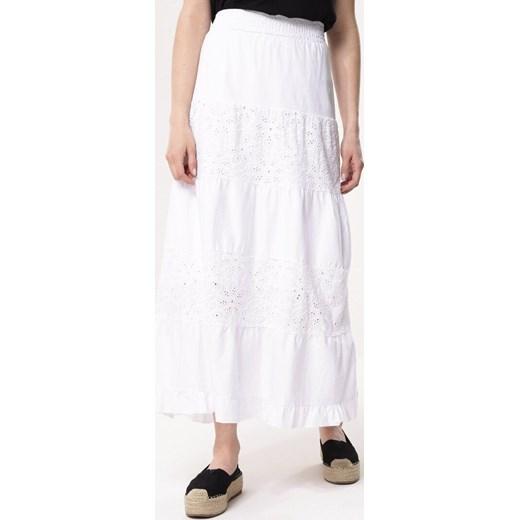 01b316bd Spódnica Born2be w stylu boho biała maxi