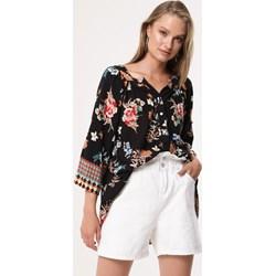 ad93b0a9593c2e Born2be koszula damska wielokolorowa w kwiaty z długim rękawem