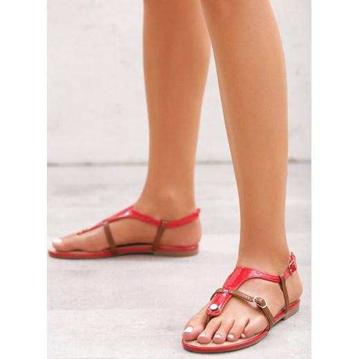 Sandały damskie Born2be bez wzorów casual płaskie z klamrą