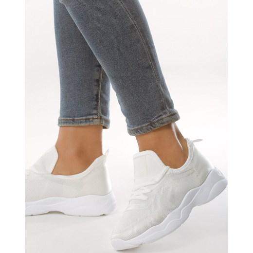 najlepszy Białe buty sportowe damskie Born2be bez wzorów