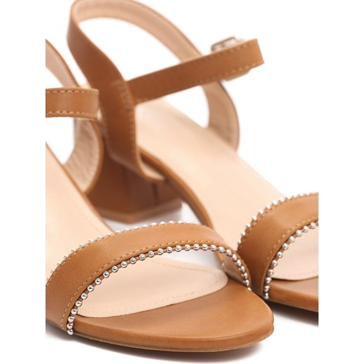 Sandały damskie Bayla ze skóry bez wzorów1
