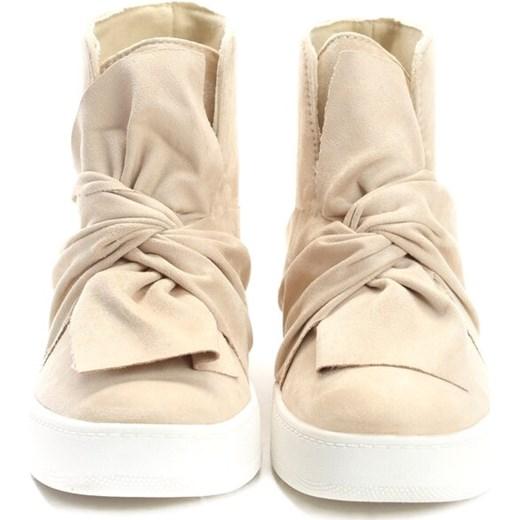 Beżowe Sneakersy Scilla born2be.pl Buty Damskie SC beżowy