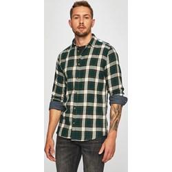 95fbb655dd795c Zielona koszula męska Only & Sons z klasycznym kołnierzykiem