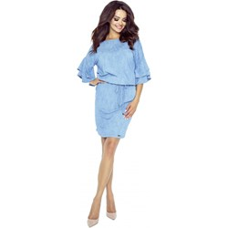 10aada9a Sukienka Bergamo wyszczuplająca z długim rękawem mini z okrągłym dekoltem