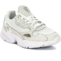 Buty sportowe damskie białe Adidas sznurowane na platformie