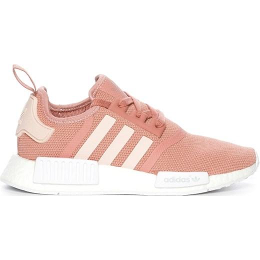 Buty sportowe damskie Adidas na wiosnę różowe na płaskiej podeszwie