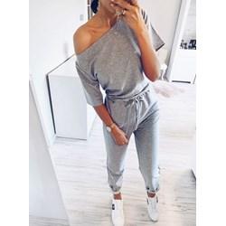 949f8f620df37d New style Włoski komplet bluzka + spodnie zdobione cekinami pudrowy ...