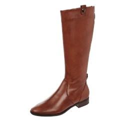 4a5879ed504b63 Kozaki damskie Gerry Weber Shoes brązowe bez wzorów płaskie skórzane z  zamkiem casual