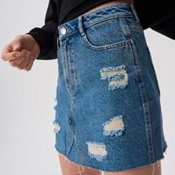 b1c0cbc8 Spódnica Sinsay mini w miejskim stylu niebieska