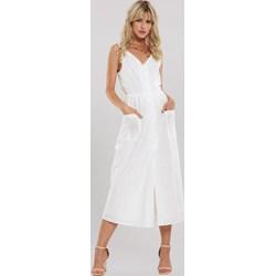 0e8de380b2fecd Sukienka Renee na co dzień z dekoltem v bez rękawów gładka