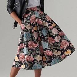 3565c655d0dde0 Spódnica Mohito midi w kwiaty wiosenna