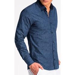 fc6f335dd46ba1 Koszula męska Ombre niebieska z długim rękawem
