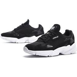 ad60edb1530d9e Granatowe buty sportowe damskie Adidas płaskie skórzane bez wzorów