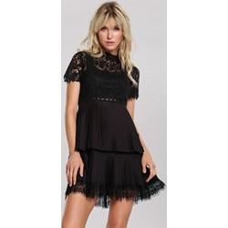 090784f8bfd69e Sukienka Renee z krótkimi rękawami mini dzienna koronkowa