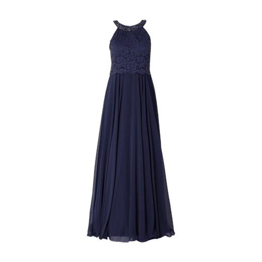 Sukienka Vera Mont niebieska na bal maxi na karnawał elegancka