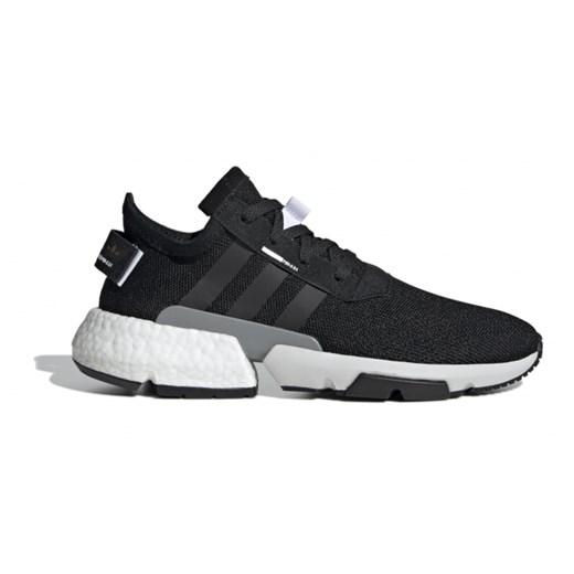 Buty sportowe damskie Adidas Originals czarne na płaskiej podeszwie sznurowane