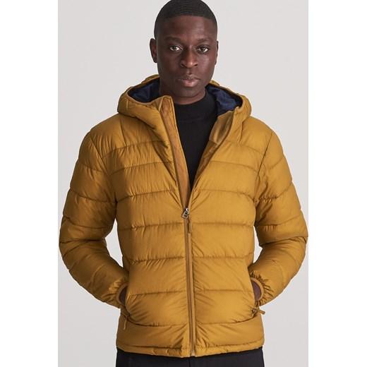 Reserved kurtka męska żółta bez wzorów