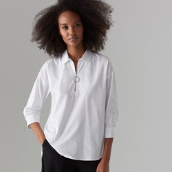 75a63f2d Biała bluzka damska Mohito bawełniana