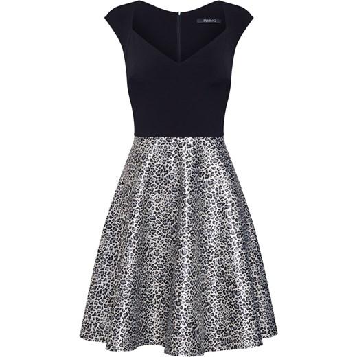 Sukienka Swing elegancka Odzież Damska XQ wielokolorowy