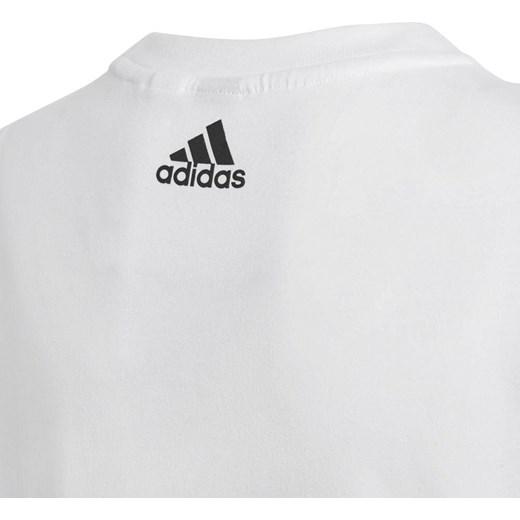 T shirt chłopięce biały Adidas z krótkim rękawem Odzież
