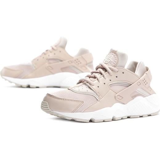 Buty sportowe damskie Nike do biegania huarache różowe bez wzorów sznurowane