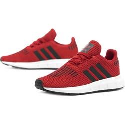 50d03779e98ad8 Buty sportowe dziecięce czerwone Adidas sznurowane