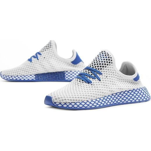 Buty sportowe damskie Adidas na wiosnę płaskie białe