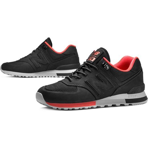 Buty sportowe męskie New Balance new 575 czarne sznurowane z gumy