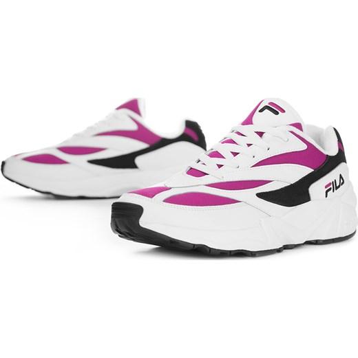 Buty sportowe damskie Fila białe płaskie gładkie sznurowane