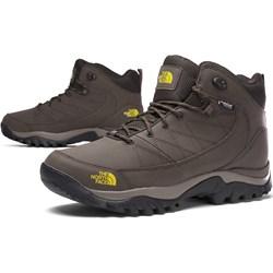 8044c650fa1498 Buty trekkingowe męskie The North Face ze skóry ekologicznej sportowe  wiązane