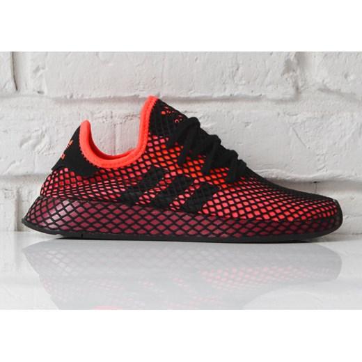 outlet na sprzedaż słodkie tanie różne kolory Buty sportowe męskie Adidas czerwone sznurowane