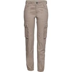 5adacaf9 Spodnie damskie brązowe Bonprix bez wzorów