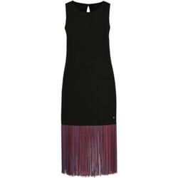 ed1bfa1bdbf125 Trussardi Jeans sukienka na spacer bez rękawów prosta midi z okrągłym  dekoltem