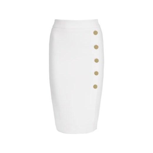 60% ZNIŻKI Spódnica Marciano gładka biała midi Odzież Damska JM biały Spódnice SCHV