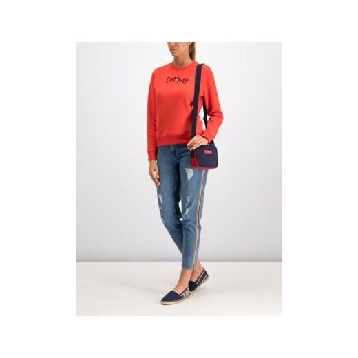 szyk Jeansy damskie Tommy Hilfiger jesienne w miejskim stylu bez wzorów Odzież Damska VQ niebieski Jeansy damskie GOLQ